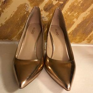 ALDO Metallic Rose Gold Heels